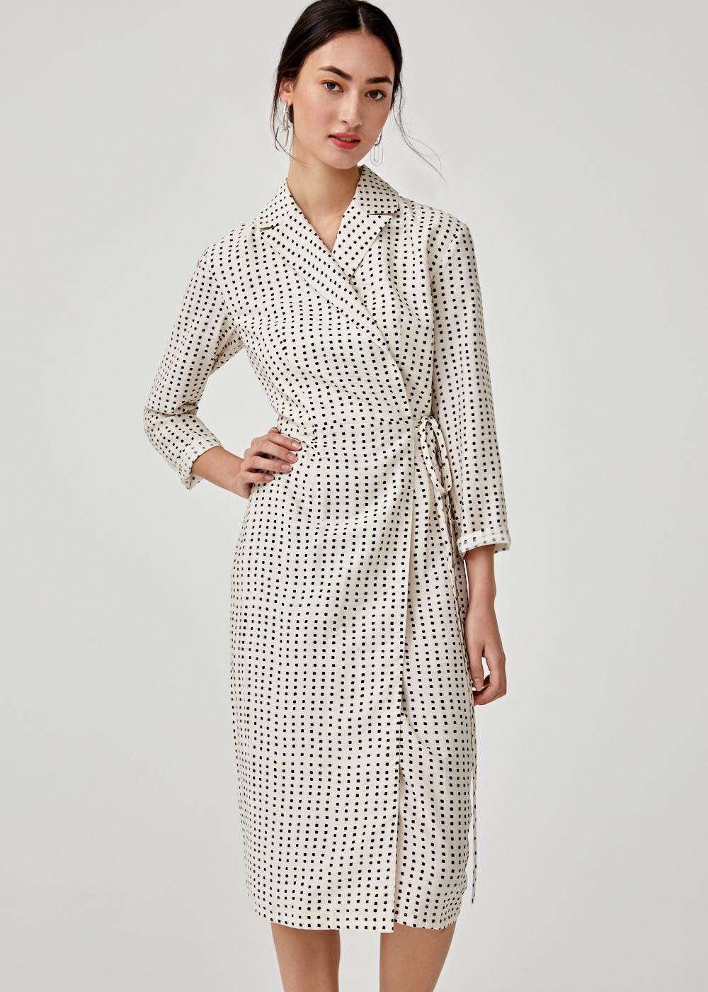 Elaine Tuxedo Wrap Dress