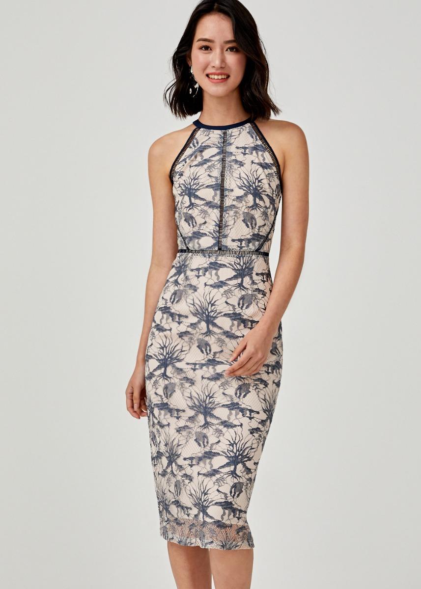 Kasiani Lace Halter Neck Dress