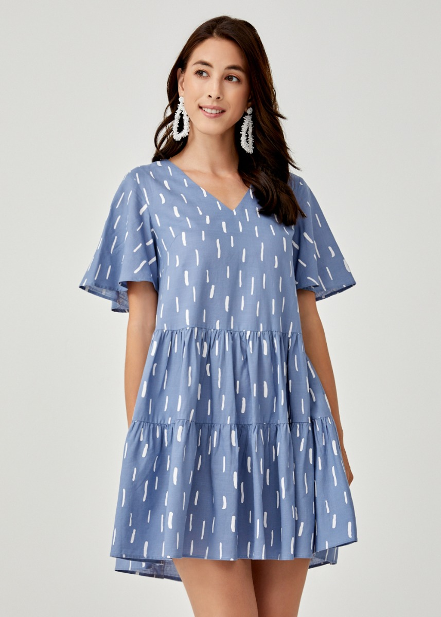 Ainslee Printed Swing Dress