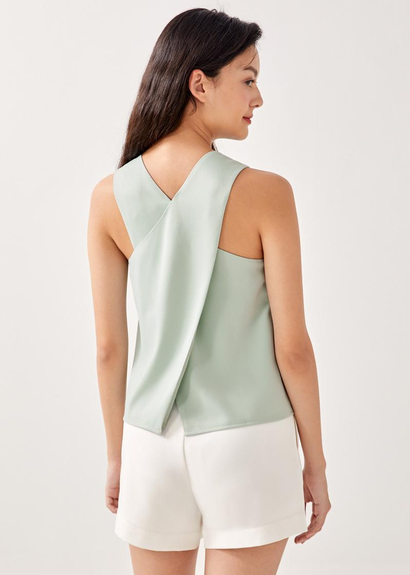 Haylie Back Overlay Shell Top