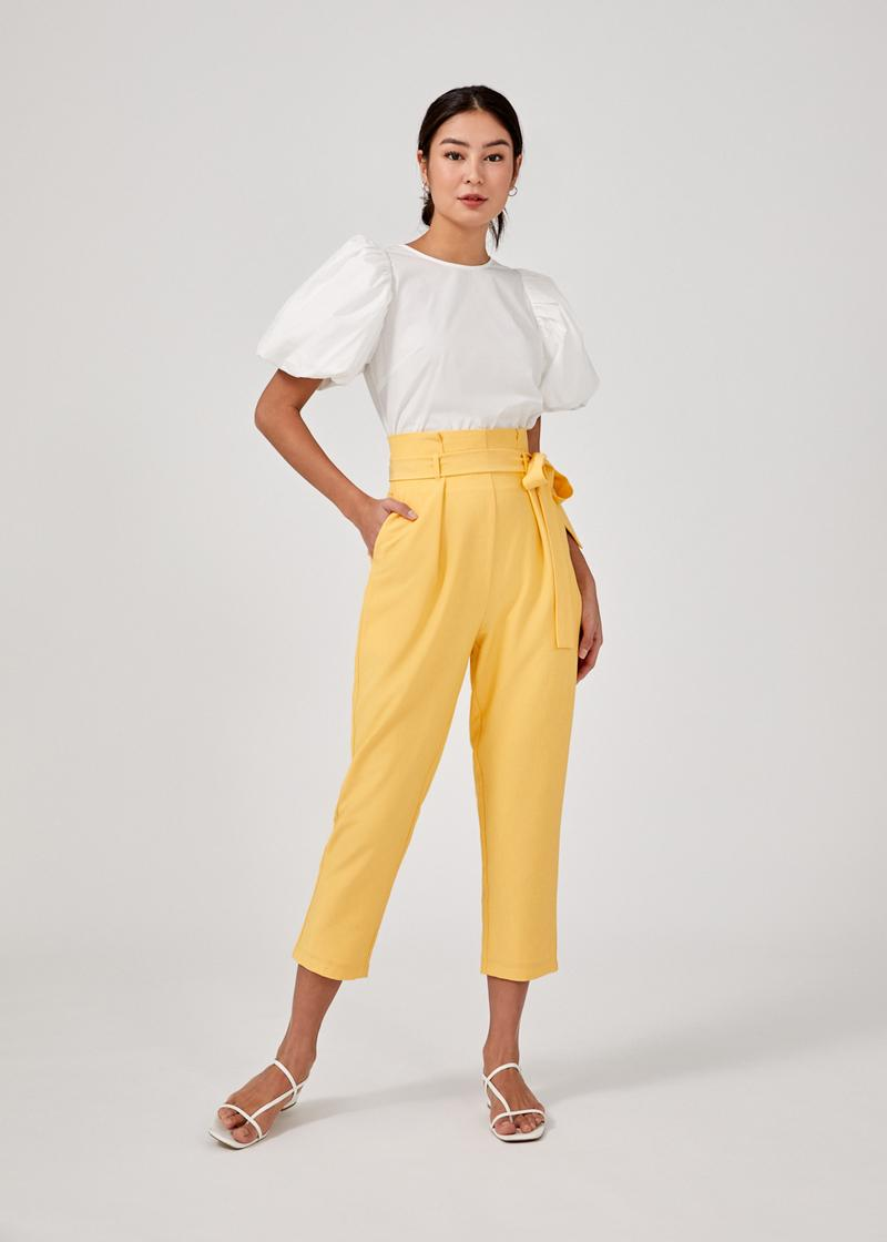 Linde Ruched Puff Sleeve Top