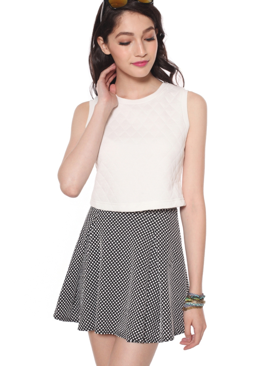 LB BASICS Orlina Quilted Crop Top