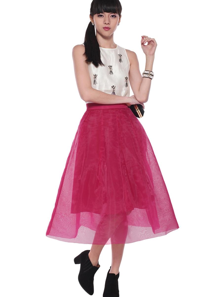 Floriana Midi Organza Skirt