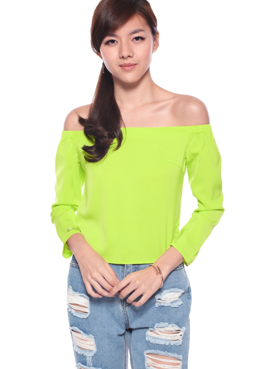 LB BASICS Velma Off Shoulder Top