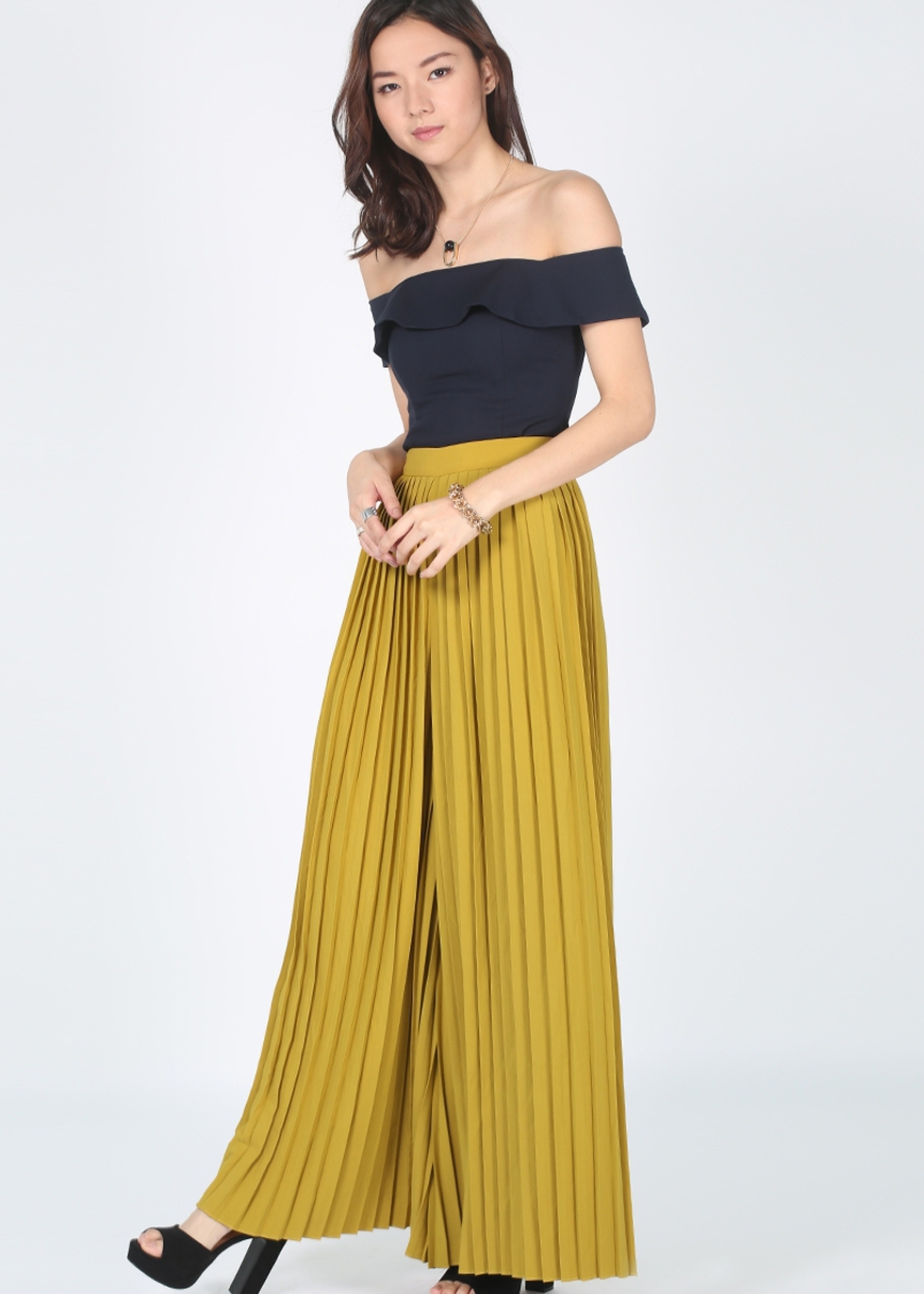 Pedona Pleated Wide Leg Pants