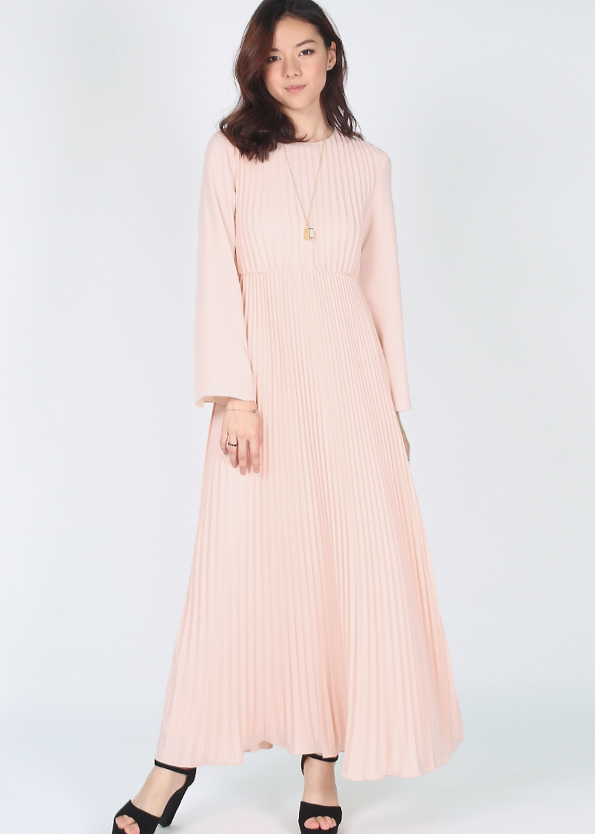 Maira Pleated Maxi Dress