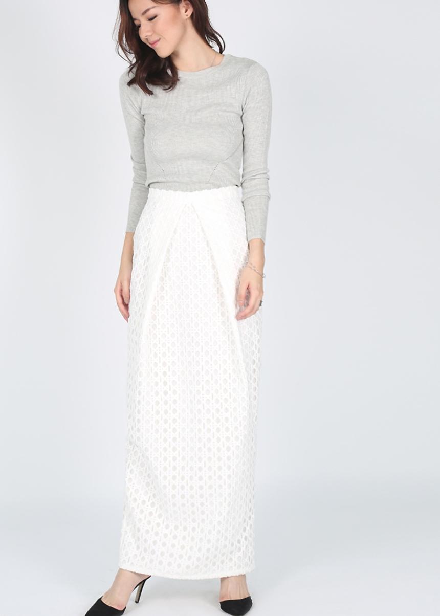 Celestia Crochet Maxi Skirt