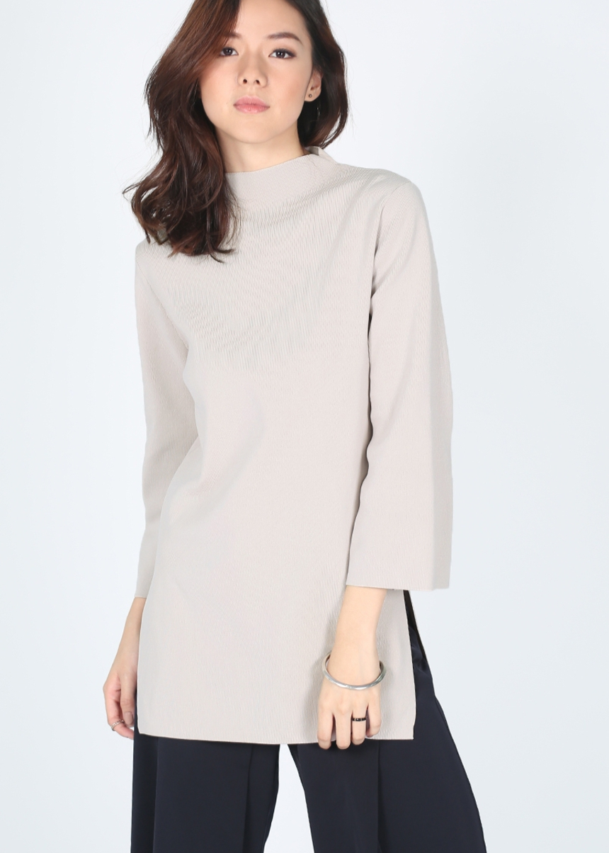 Haniela High Neck Knit Tunic