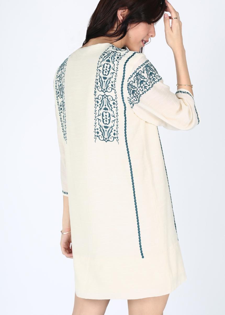 Elita Embroidered Dress
