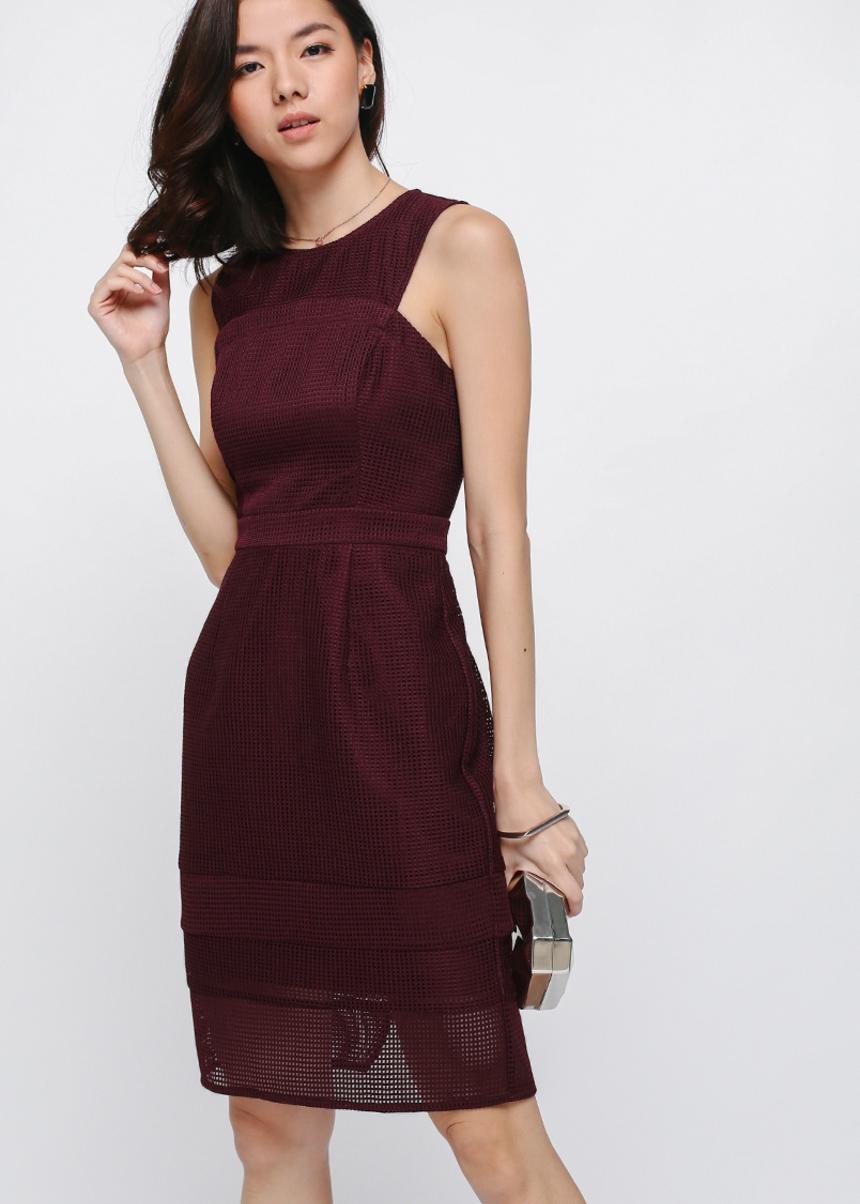 Malitz Mesh Midi Dress