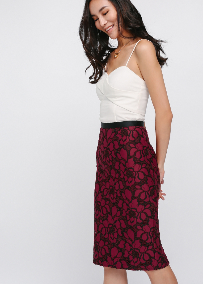 Dayna Lace Pencil Skirt