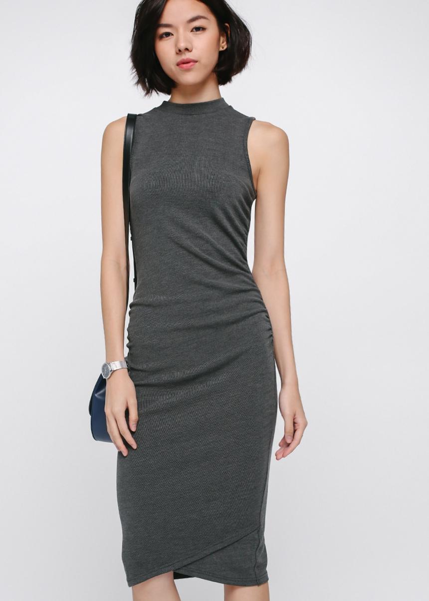 Reischel Ruched Knit Dress