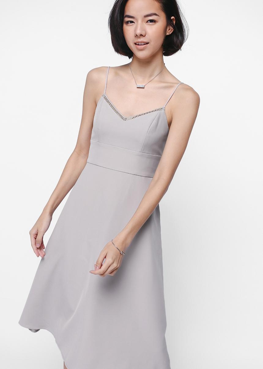 Doleen Eyelet Trim Midi Dress