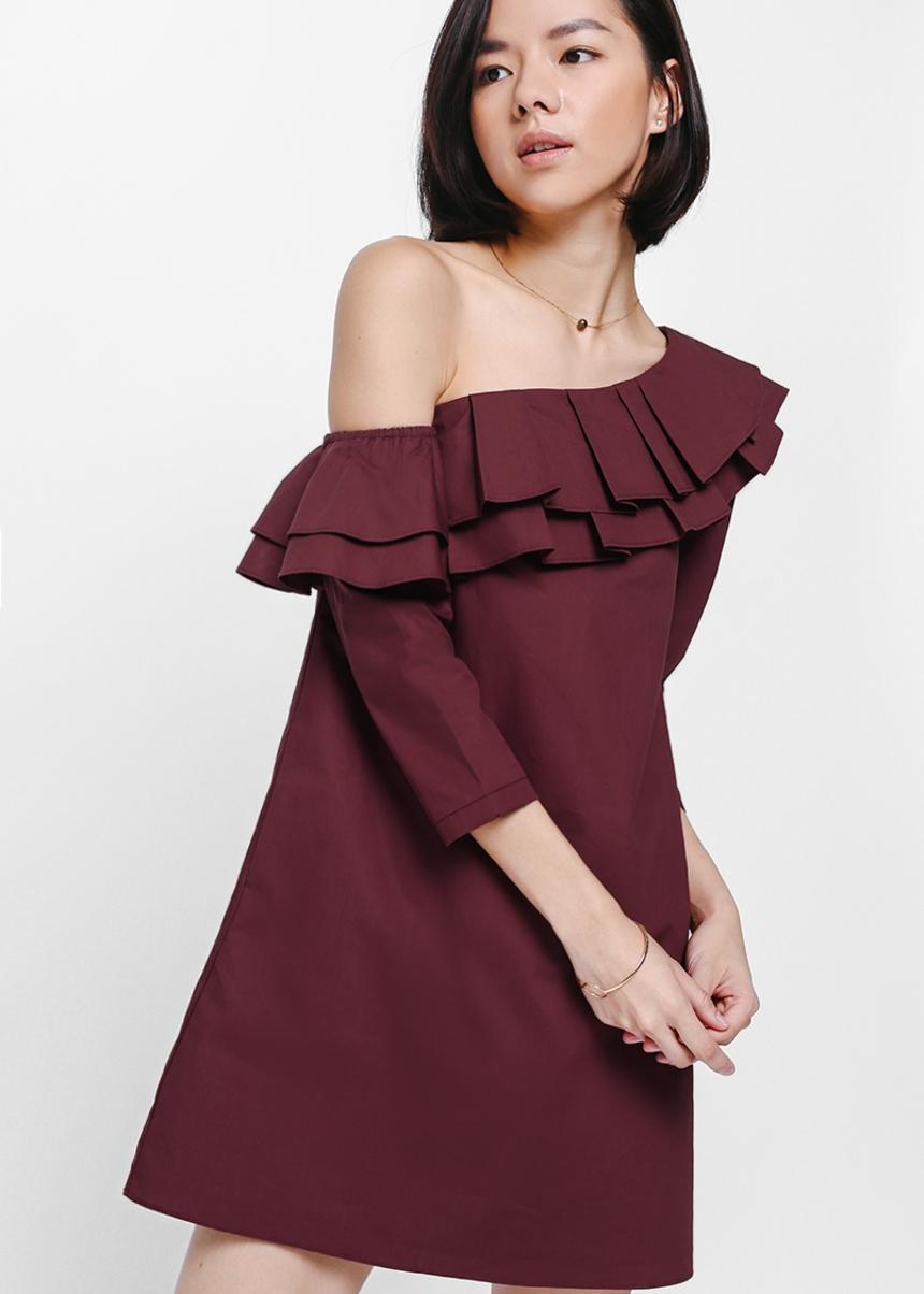 Torayne Ruffled Off Shoulder Dress