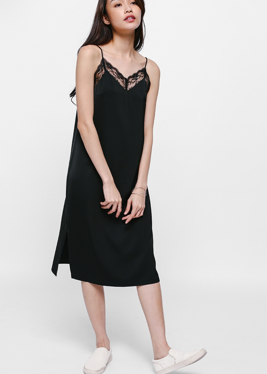 Colette Lace Trim Slip Dress