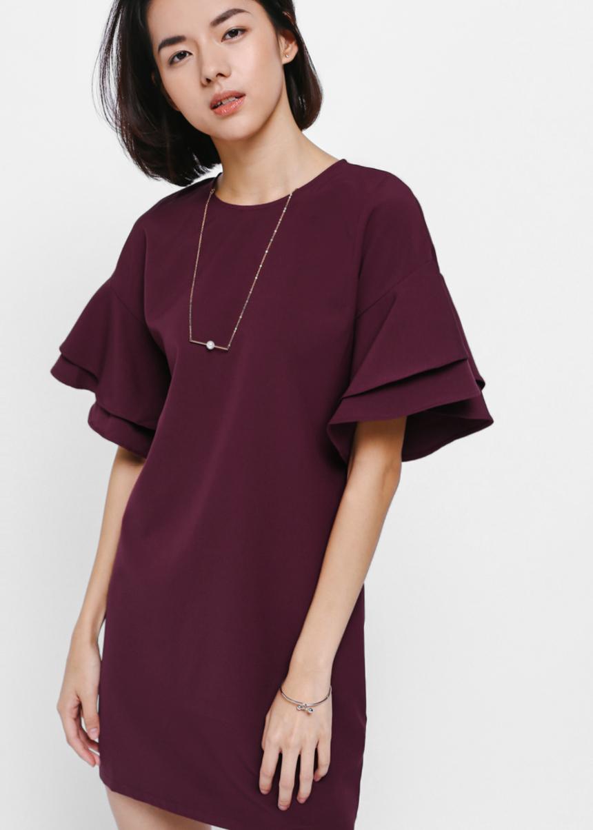 Gwendolyn Layered Ruffle Sleeve Dress