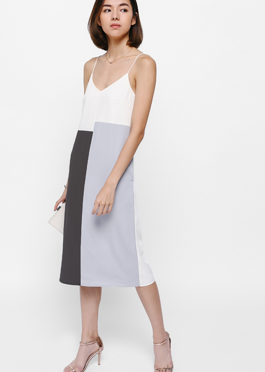 Joddi Colourblock Midi Dress