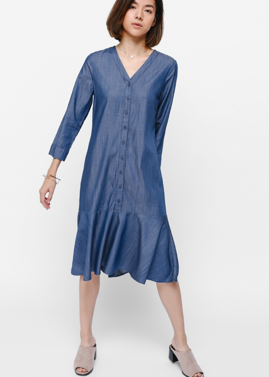 Yarra Denim Midi Shirt Dress