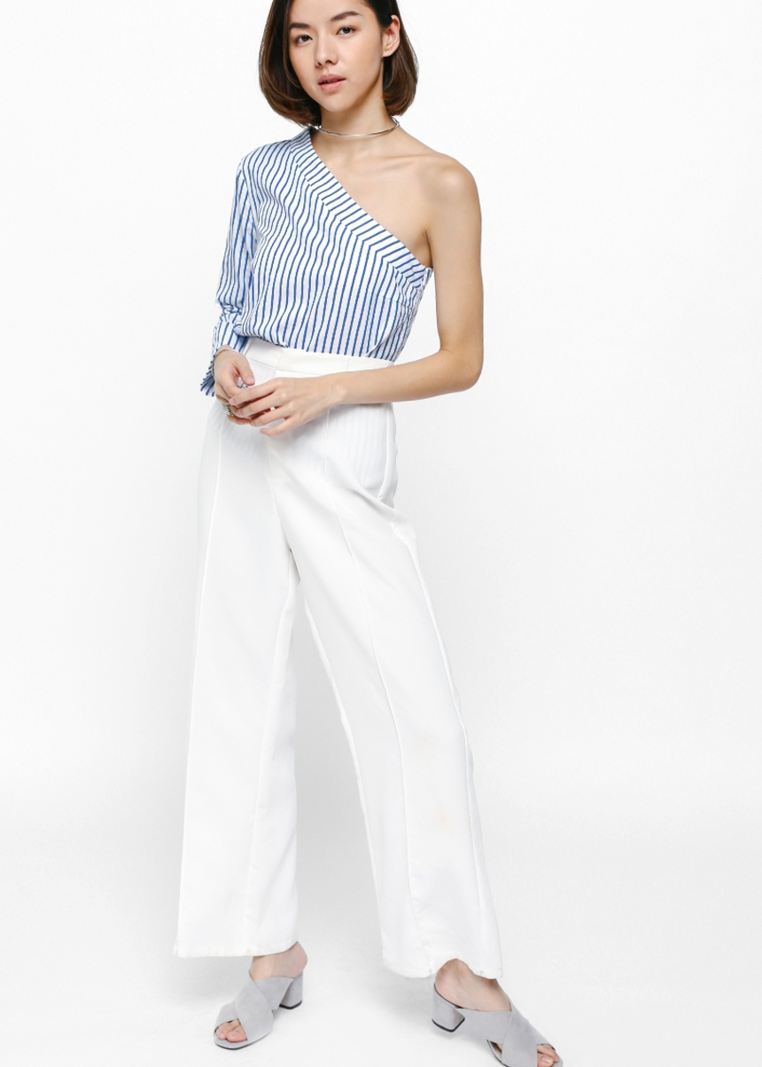 Whitley Striped Toga Blouse