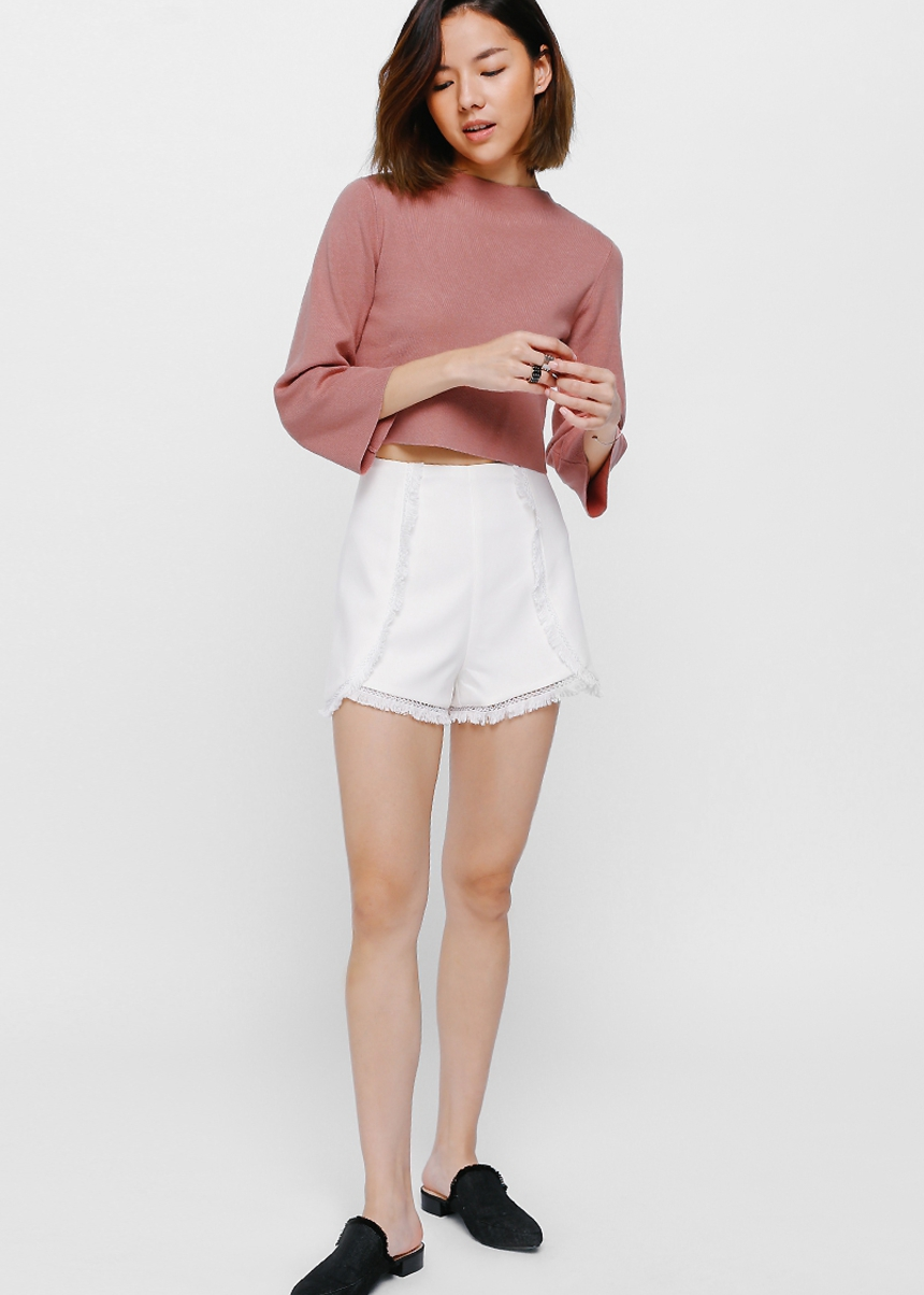 Aryne High Neck Knit Crop Top