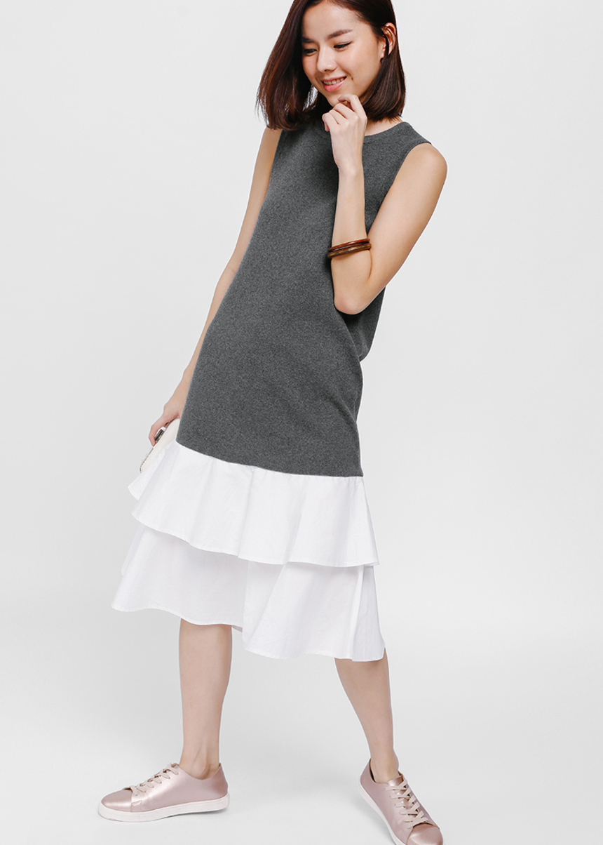 Dalvin Layered Midi Dress