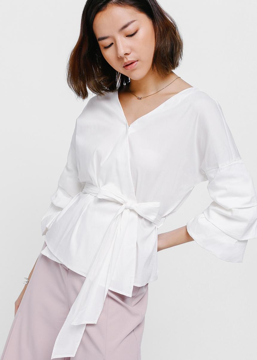 Xania Layered Sleeve Wrap Top