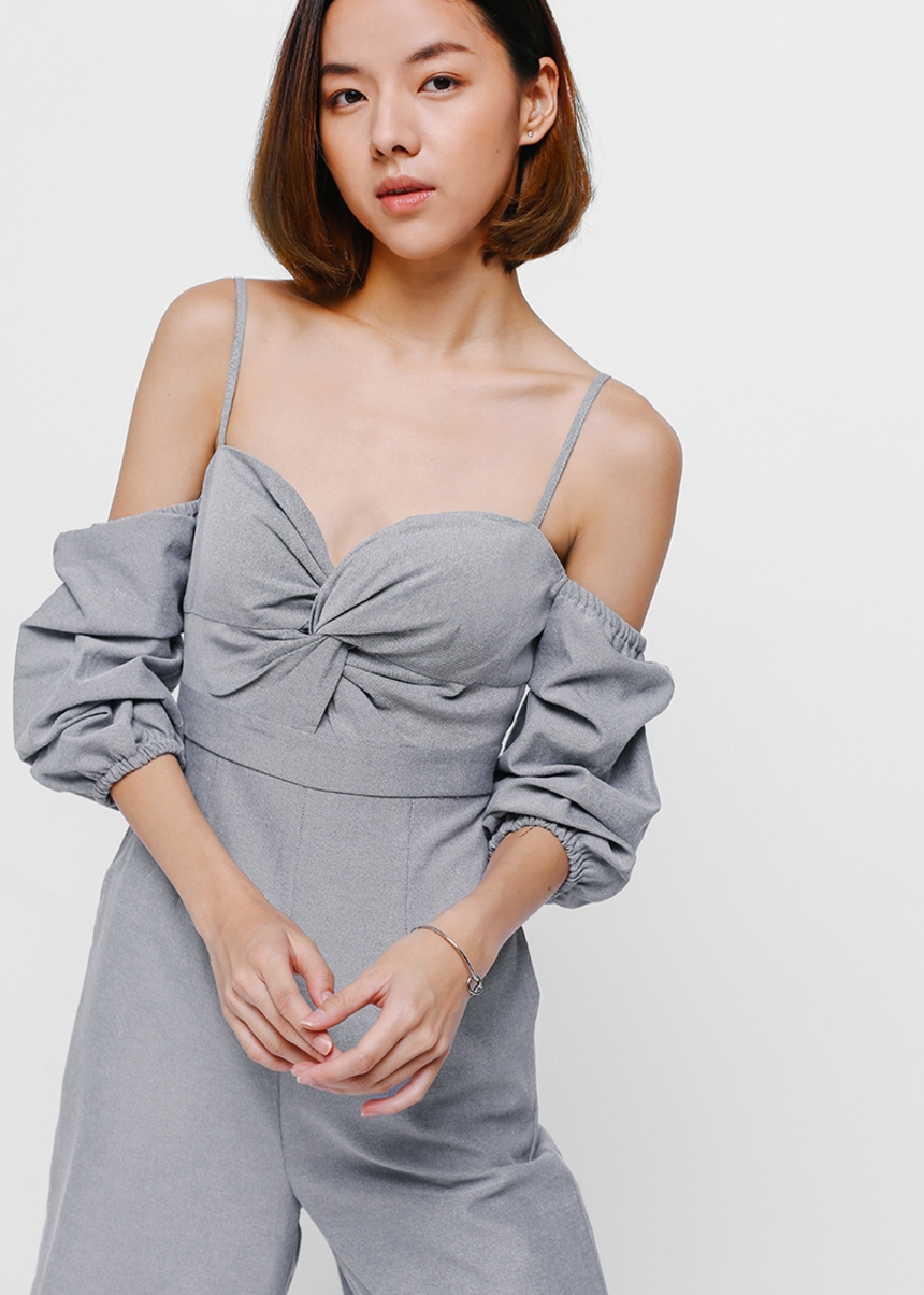 Jenise Off Shoulder Midi Jumpsuit