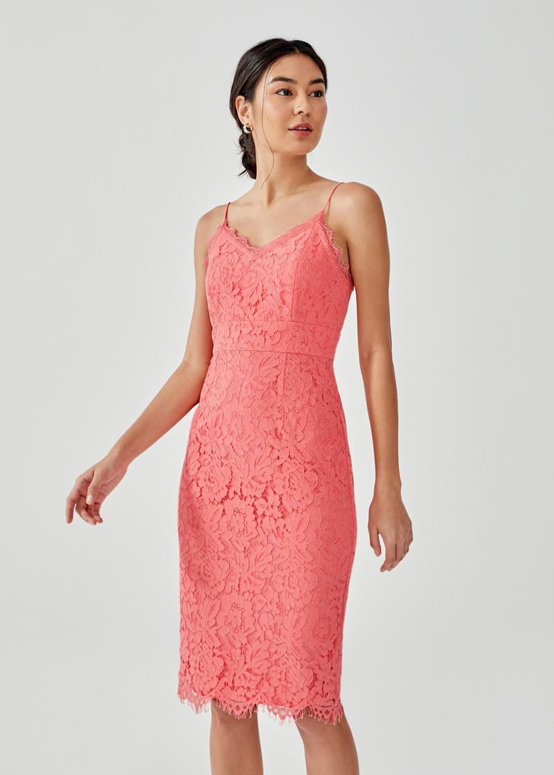 Dafena Lace Midi Dress