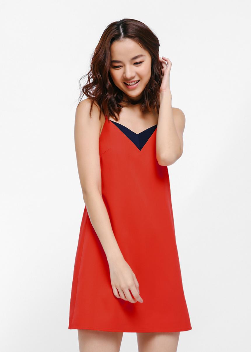 Daena Contrast Cutout Dress