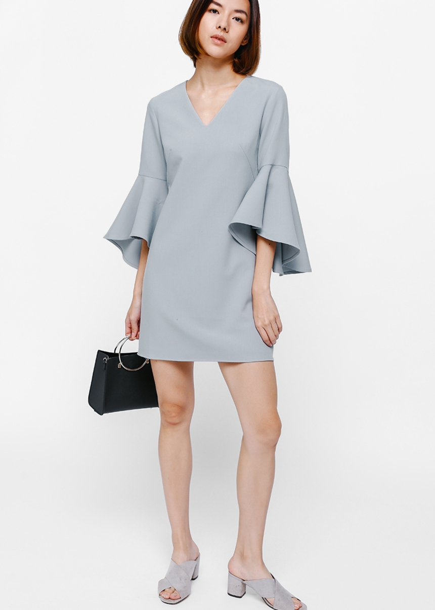 Olayne Bell Sleeve Dress