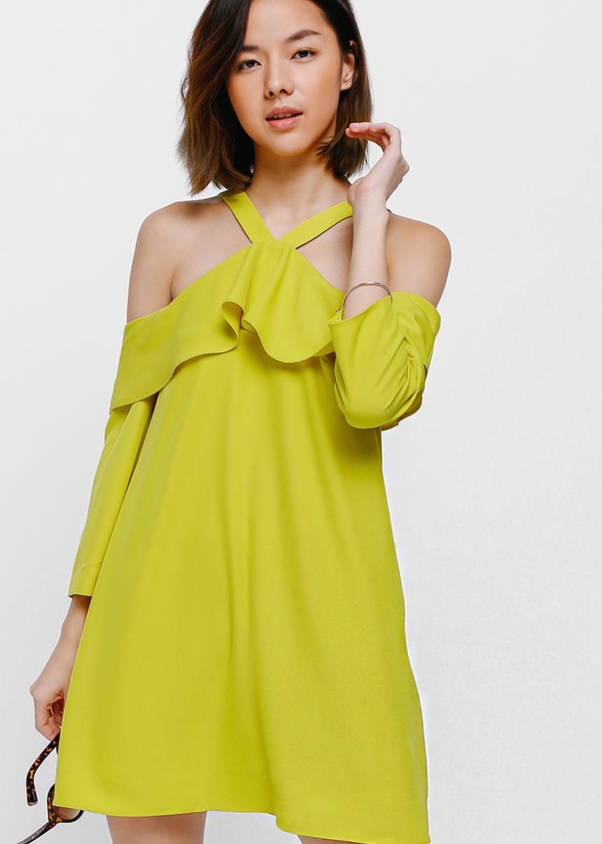 Toybie Ruffle Off Shoulder Dress