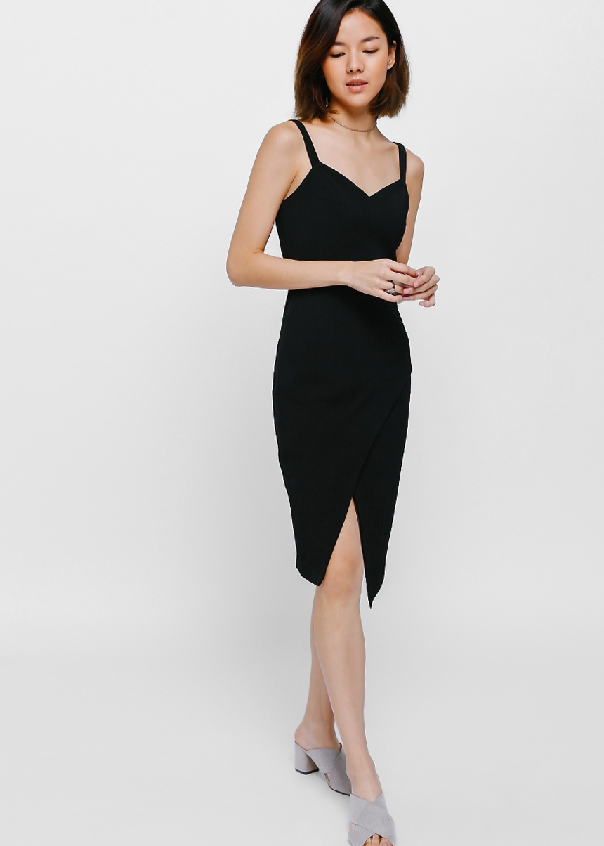Meya Crossover Midi Dress