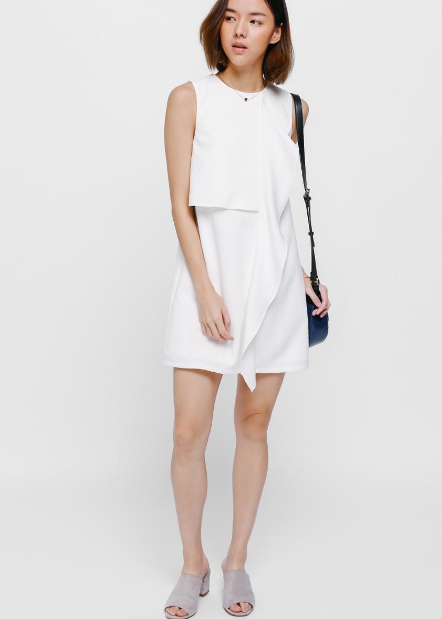 Alfrean Asymmetrical Cascade Dress