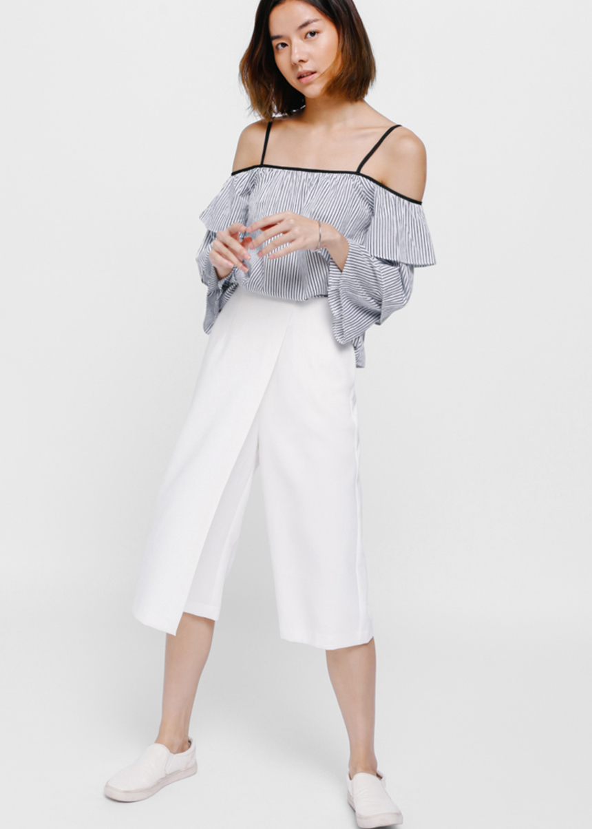 Tatelyn Striped Layered Off Shoulder Top