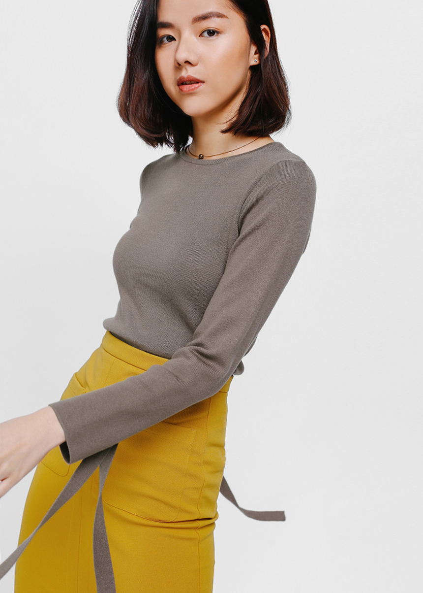 Leana Sash Sleeve Knit Top