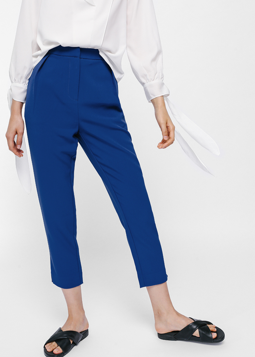 Pashenka High Waist Cropped Pants