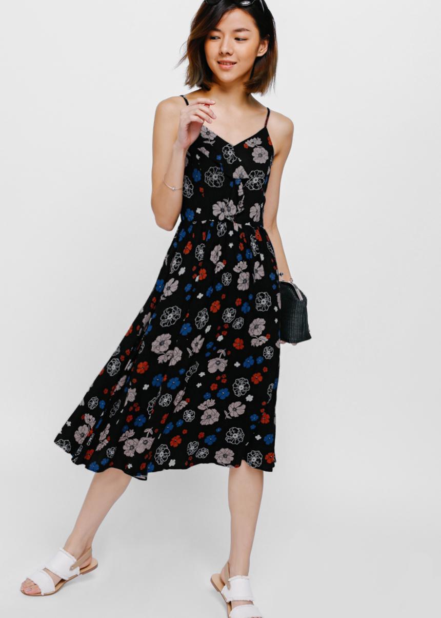 Orenda Printed Layered Ruffle Dress