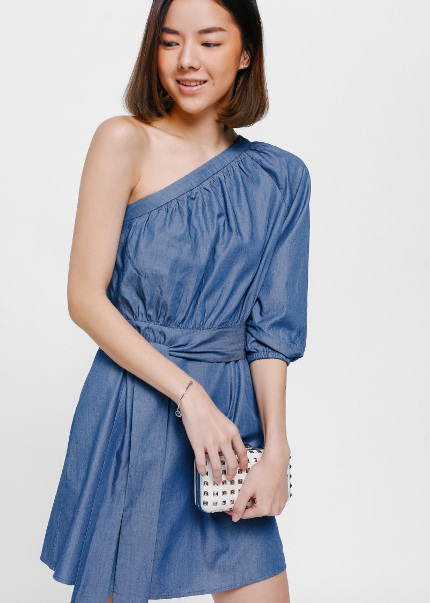 Gatascha Toga Denim Sash Dress
