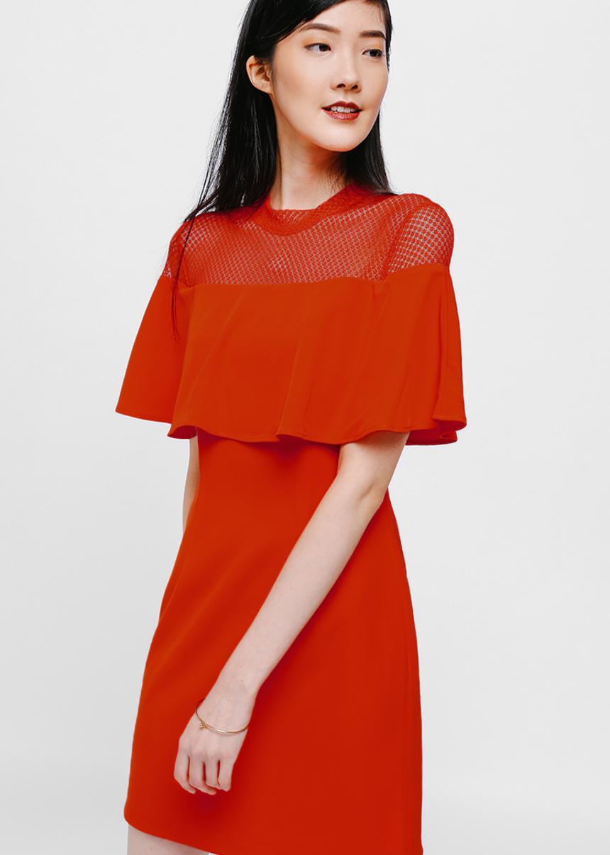 Faldriana Lace Layered Dress