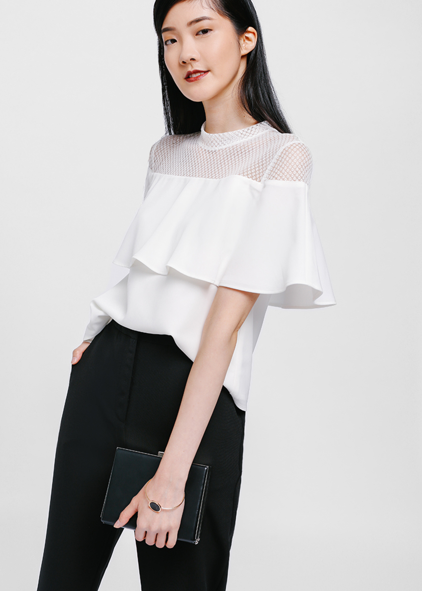 Faldriana Lace Layered Top