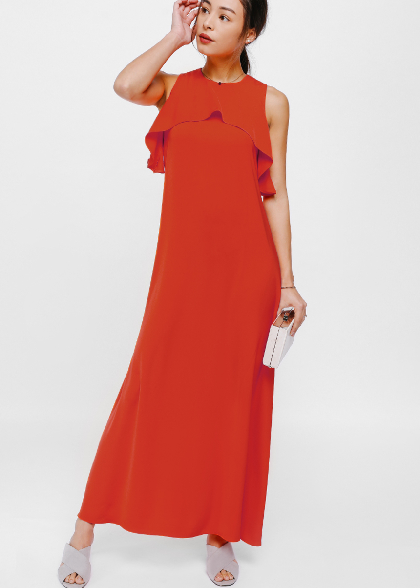Kason Ruffle Layer Maxi Dress