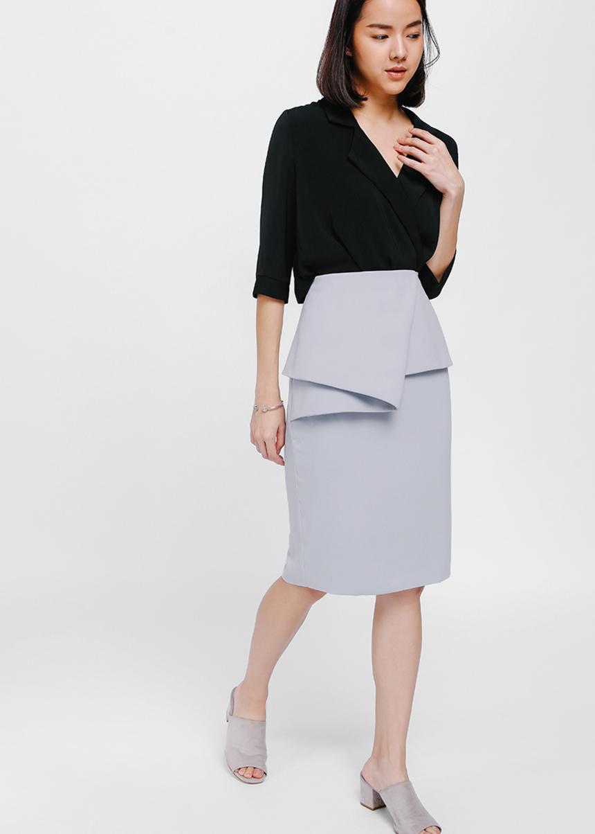 Goserea Origami Peplum Skirt