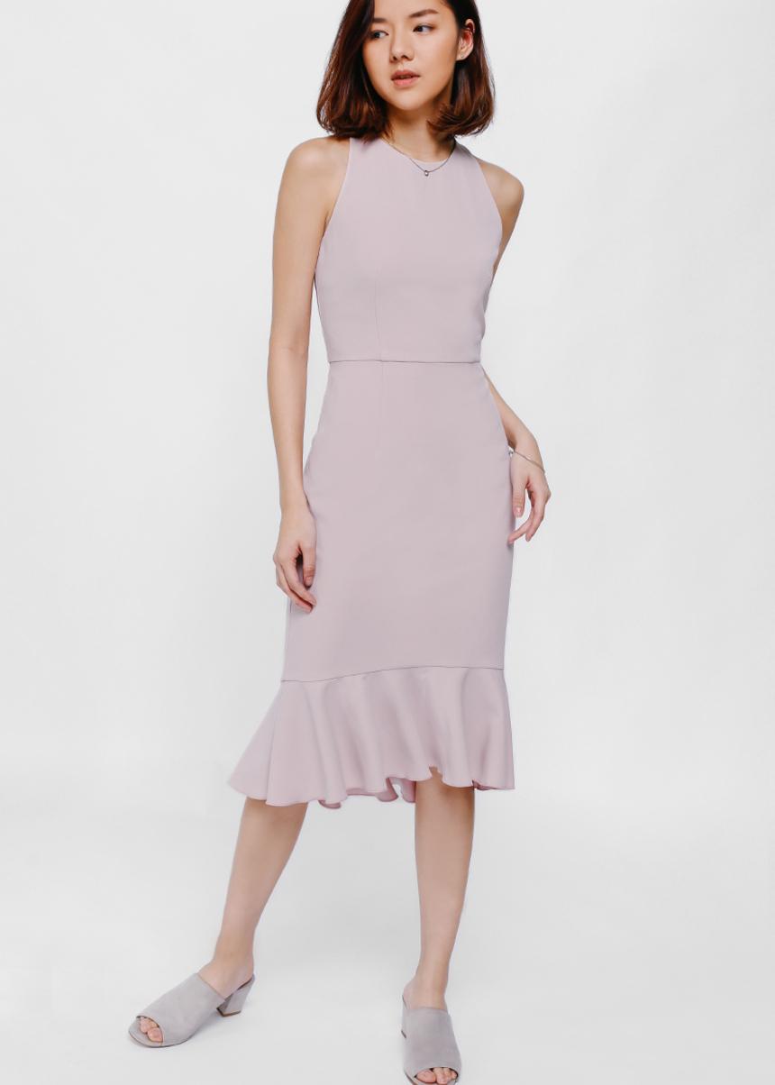 Deolla Ruffled Hem Midi Dress