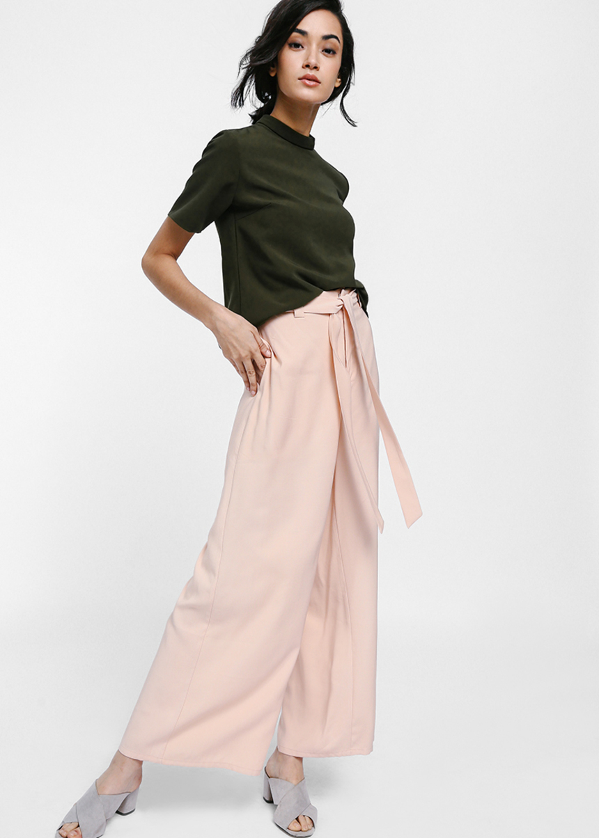 Mandya Sash Wide Leg Pants
