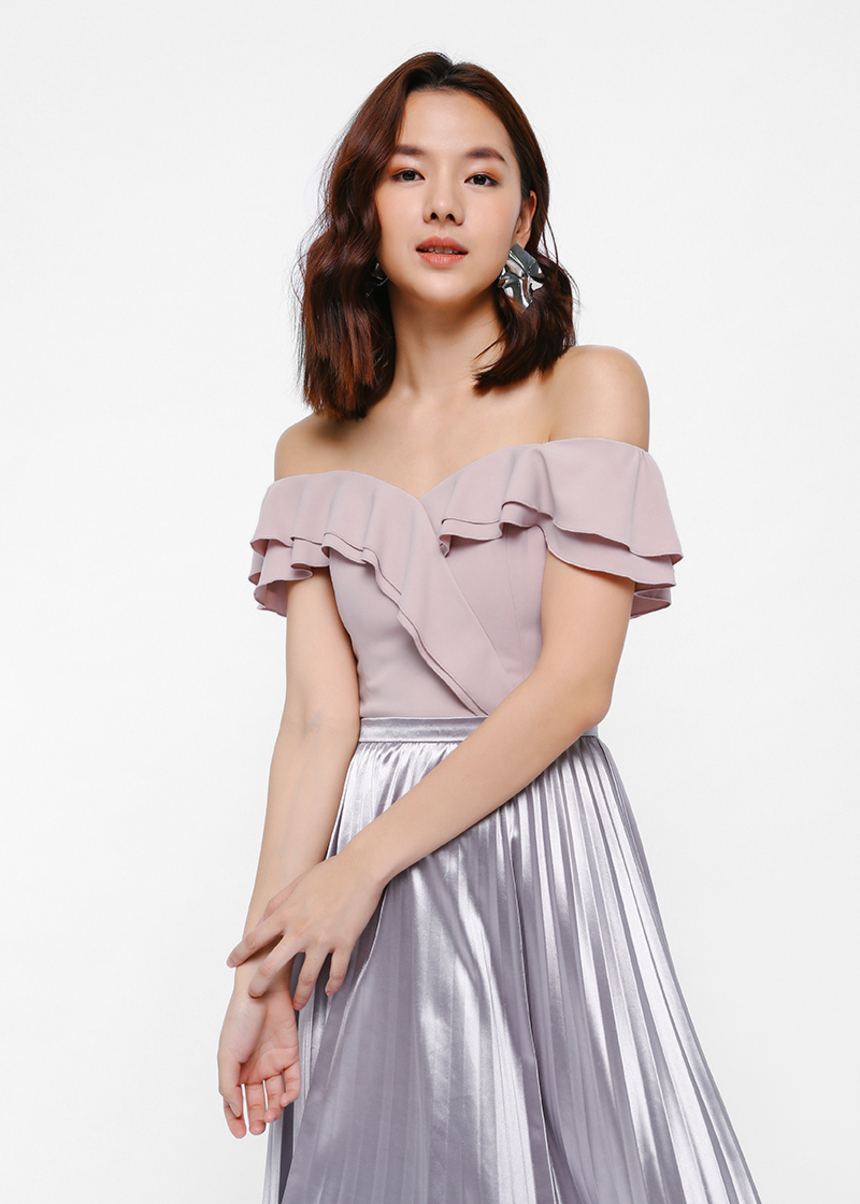 Telsta Off Shoulder Ruffle Bustier Top
