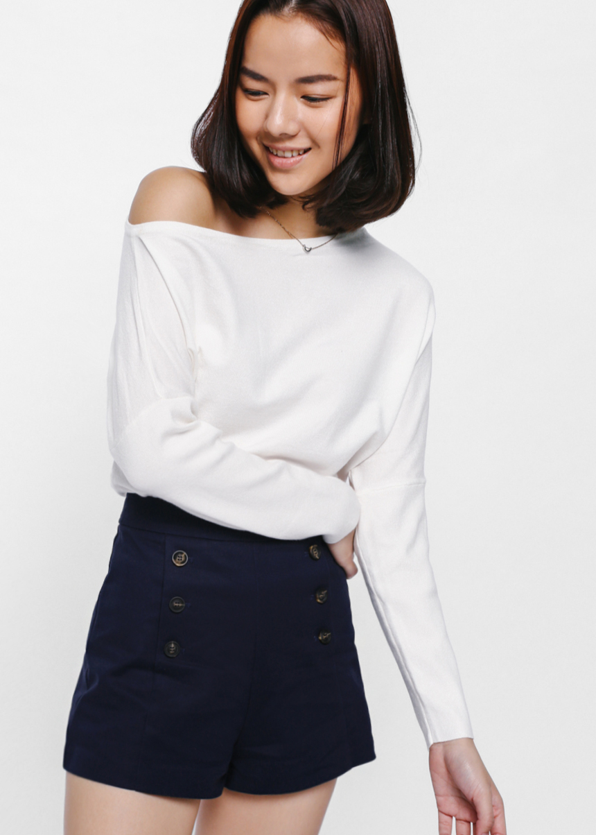 Balwyna Off Shoulder Knit Top