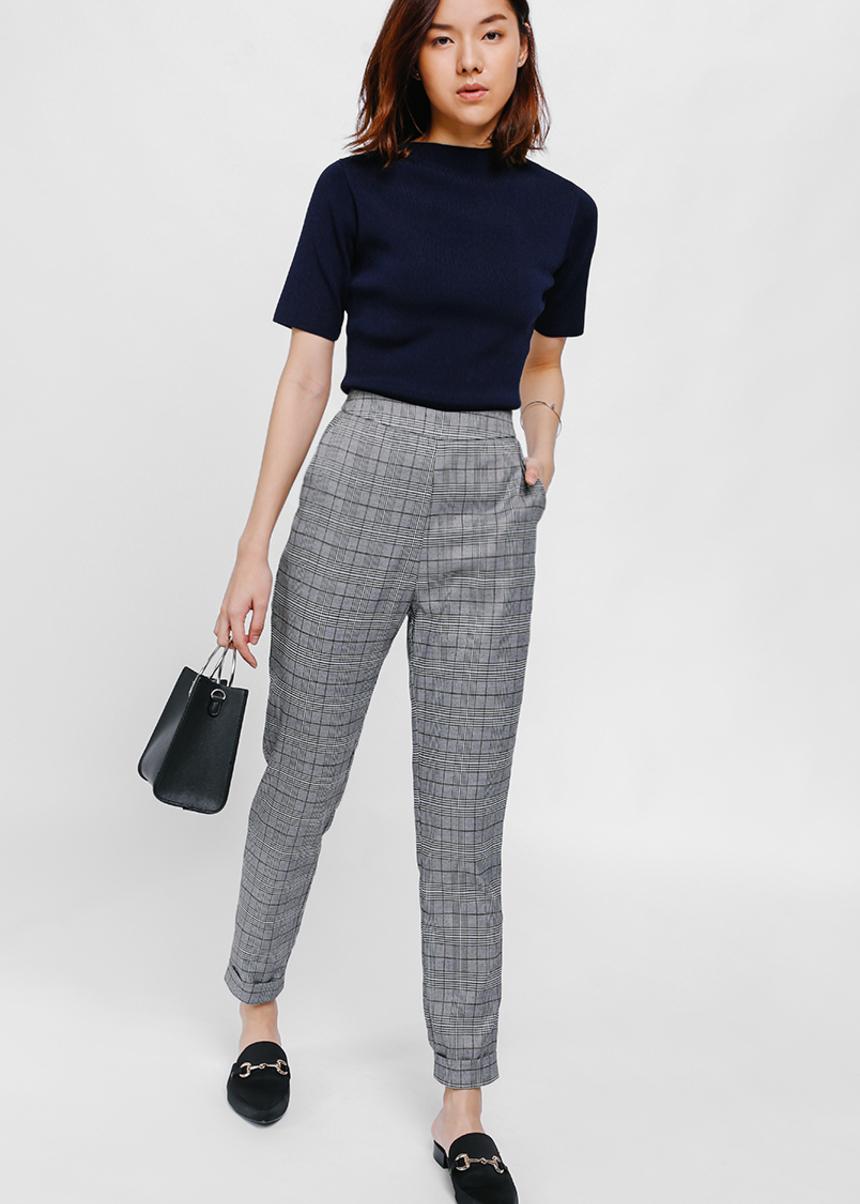 Prischa Tweed Cuffed Pants