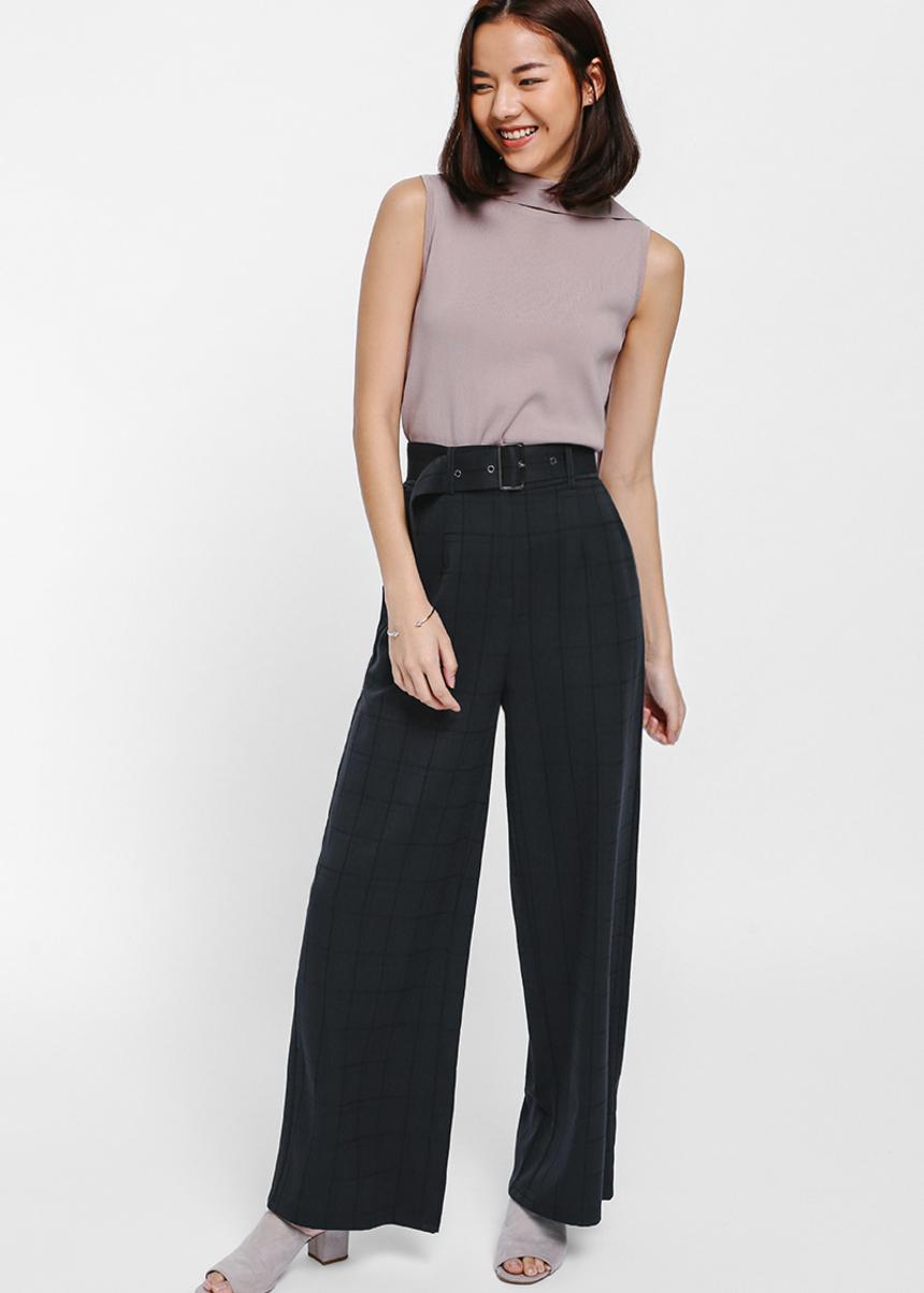 Kaelan Printed Belted Pants