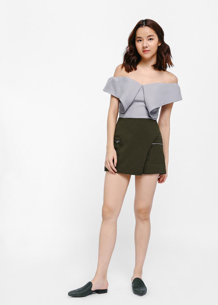 Ollevie Off Shoulder Bustier Top