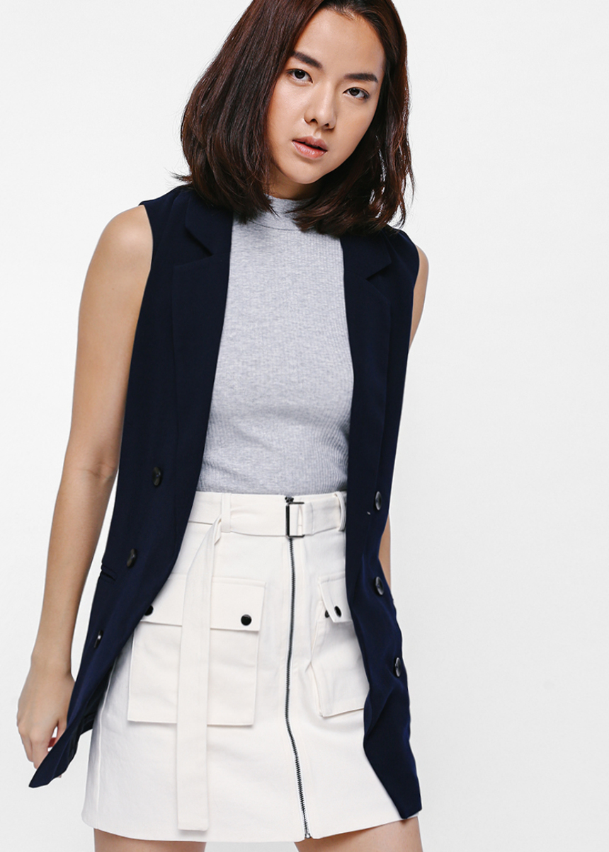 Kyeri Utilitarian Belted Pocket Skirt